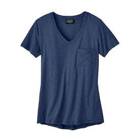 ペンドルトン Pendleton レディース Tシャツ ポケット Vネック トップス【V-Neck Pocket Cotton Tee】Indigo