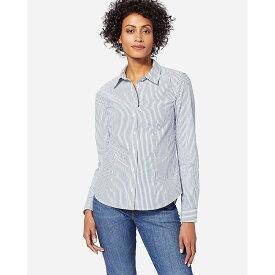 ペンドルトン Pendleton レディース ブラウス・シャツ トップス【Audrey Fitted Stripe Shirt】Blue Stripe