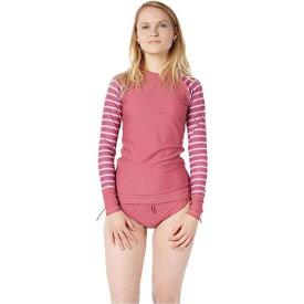 レベルシックス Level Six レディース ヨガ・ピラティス トップス【Venus LS Top】Juneberry/Block Stripes Light Pink