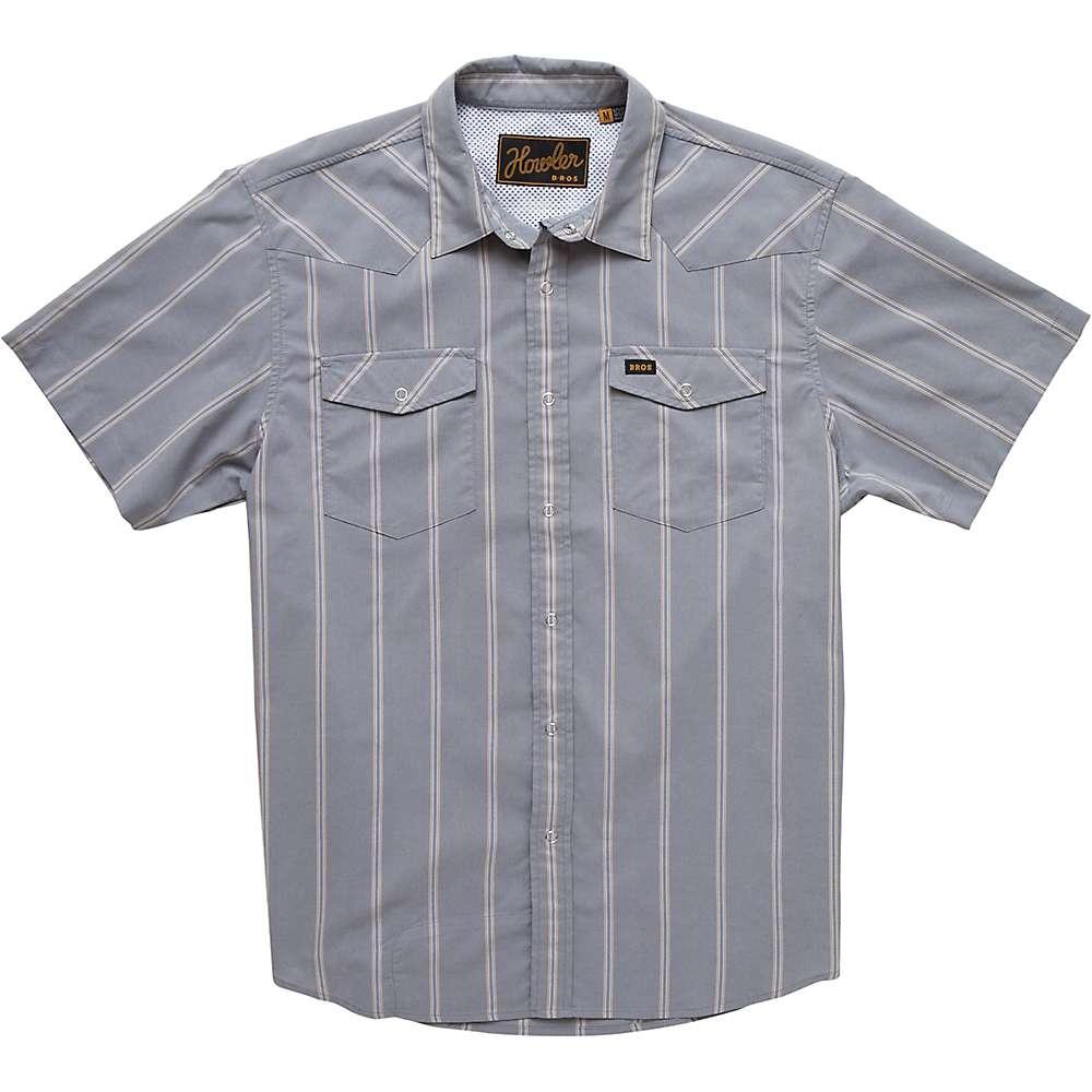 ホウラーブラザーズ メンズ トップス Tシャツ【Howler Bros H Bar B Tech Shirt】Relic Stripe / Dove Grey