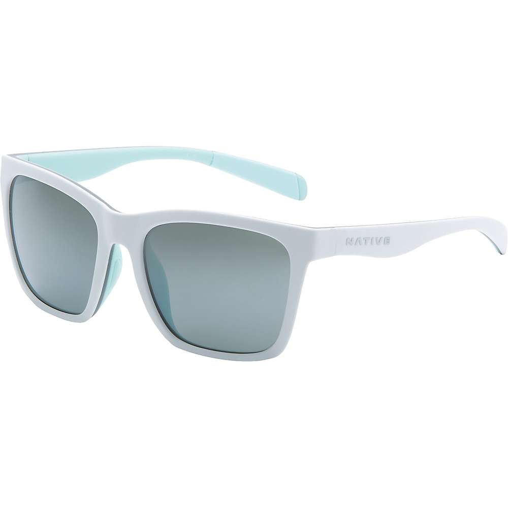ネイティブ メンズ アクセサリー メガネ・サングラス【Native Braiden Polarized Sunglasses】Matte White / Grey / Mint / Silver Reflex Polrized