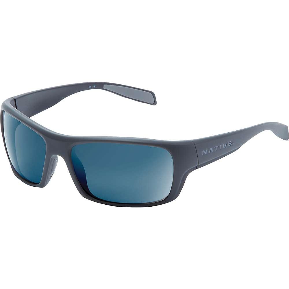 ネイティブ ユニセックス メンズ レディース アクセサリー メガネ・サングラス【Native Eddyline Polarized Sunglasses】Granite / Matte Black / Blue Reflex Polarized