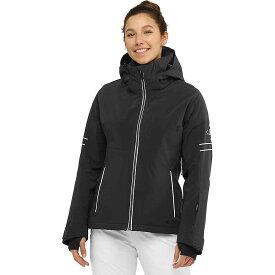 サロモン Salomon レディース スキー・スノーボード ジャケット アウター【The Brilliant Jacket】Black/White