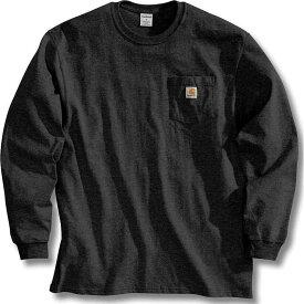 カーハート Carhartt メンズ 長袖Tシャツ ポケット トップス【Workwear Pocket Long Sleeve T-Shirt】Black