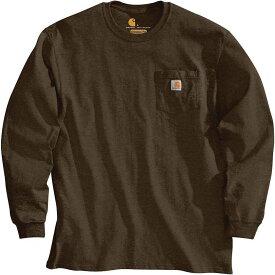 カーハート Carhartt メンズ 長袖Tシャツ ポケット トップス【Workwear Pocket Long Sleeve T-Shirt】Dark Brown
