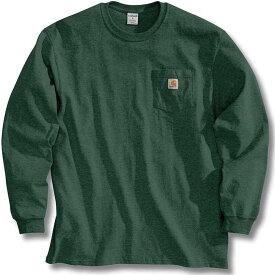 カーハート Carhartt メンズ 長袖Tシャツ ポケット トップス【Workwear Pocket Long Sleeve T-Shirt】Hunter Green