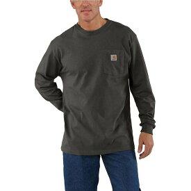 カーハート Carhartt メンズ 長袖Tシャツ ポケット トップス【Workwear Pocket Long Sleeve T-Shirt】Peat