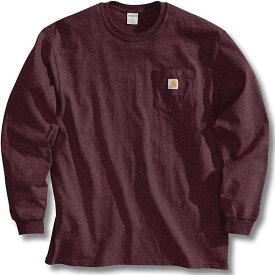 カーハート Carhartt メンズ 長袖Tシャツ ポケット トップス【Workwear Pocket Long Sleeve T-Shirt】Port