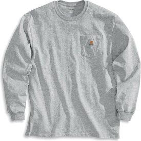カーハート Carhartt メンズ 長袖Tシャツ ポケット トップス【Workwear Pocket Long Sleeve T-Shirt】Heather Grey