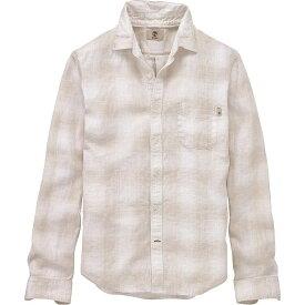 ティンバーランド Timberland Apparel メンズ シャツ トップス【Timberland Mill River Linen Ombre Plaid LS Shirt】Wind Chime