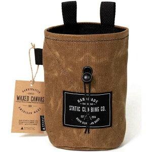 STATIC ユニセックス クライミング チョークバッグ【Waxed Canvas Chalk Bag】Tobacco