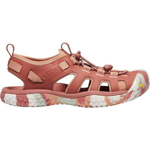 キーン Keen レディース ウォーターシューズ シューズ・靴【KEEN SOLR Performance Quick Dry Non Slip Water Sandals】Redwood/Pheasant