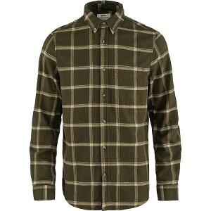 フェールラーベン Fjallraven メンズ シャツ ネルシャツ トップス【Ovik Comfort Flannel Shirt】Dark Olive/Sand Stone