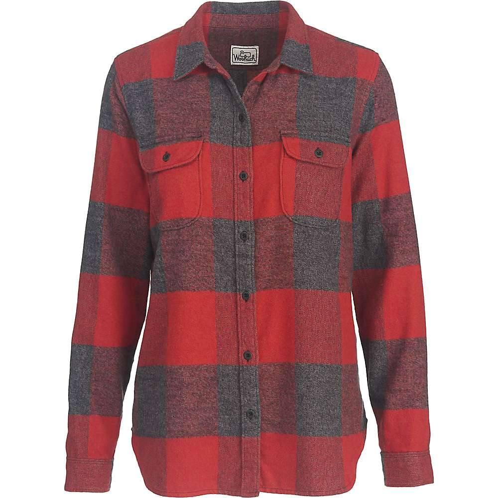 ウールリッチ レディース トップス ブラウス・シャツ【Woolrich Eco Rich Twisted Rich Flannel Shirt】Beet Check