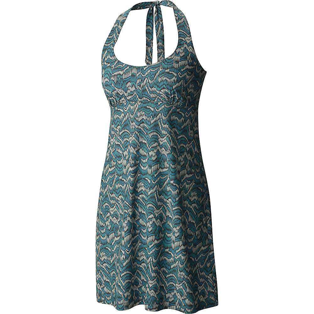 コロンビア レディース ワンピース・ドレス ワンピース【Columbia Armadale Halter Top Dress】Teal Raindrop Wave Print