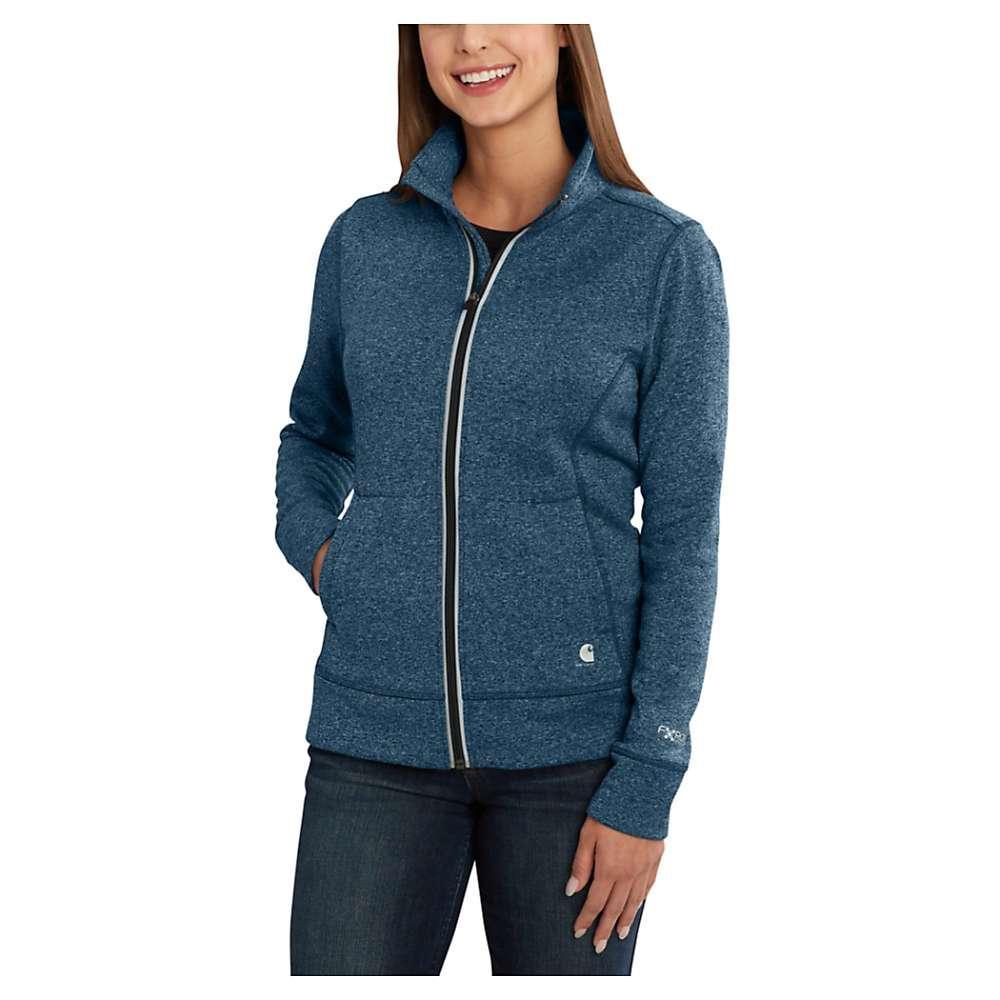 カーハート レディース トップス【Carhartt Force Extremes Zip Front Sweatshirt】Dark Stream Heather