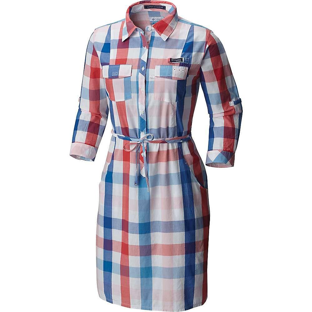 コロンビア レディース ワンピース・ドレス ワンピース【Columbia Super Bonehead II 3/4 Dress】Vivid Blue Plaid