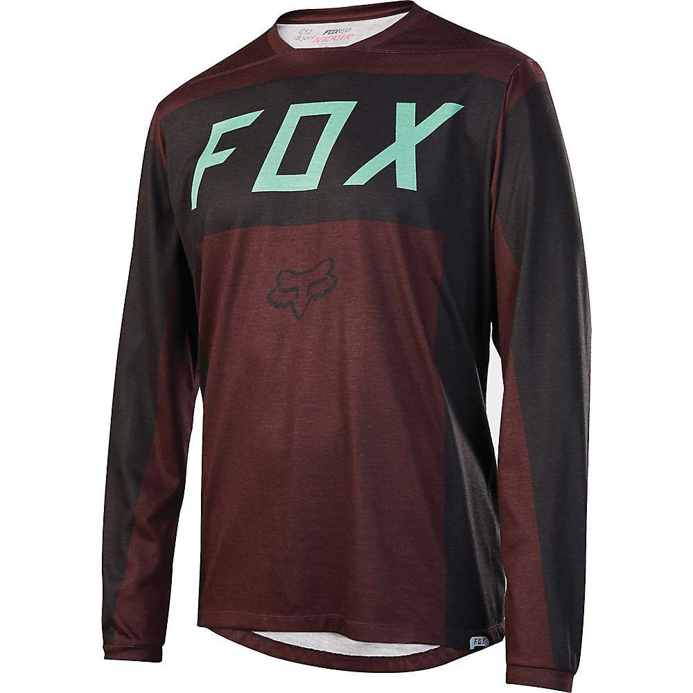 フォックス メンズ 自転車 トップス【Fox Indicator Moth LS Jersey】Burgundy