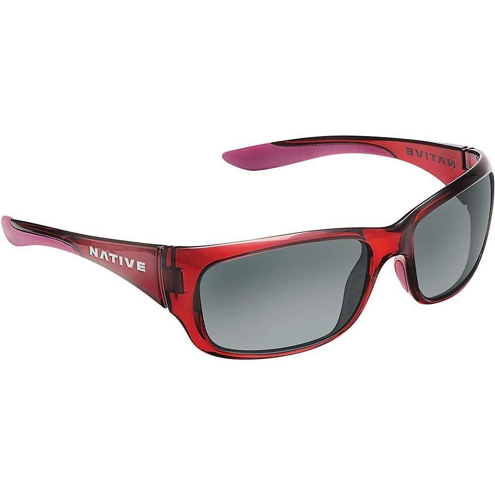 ネイティブ ユニセックス メガネ・サングラス【Native Kannah Polarized Sunglasses】Crimson / Grey