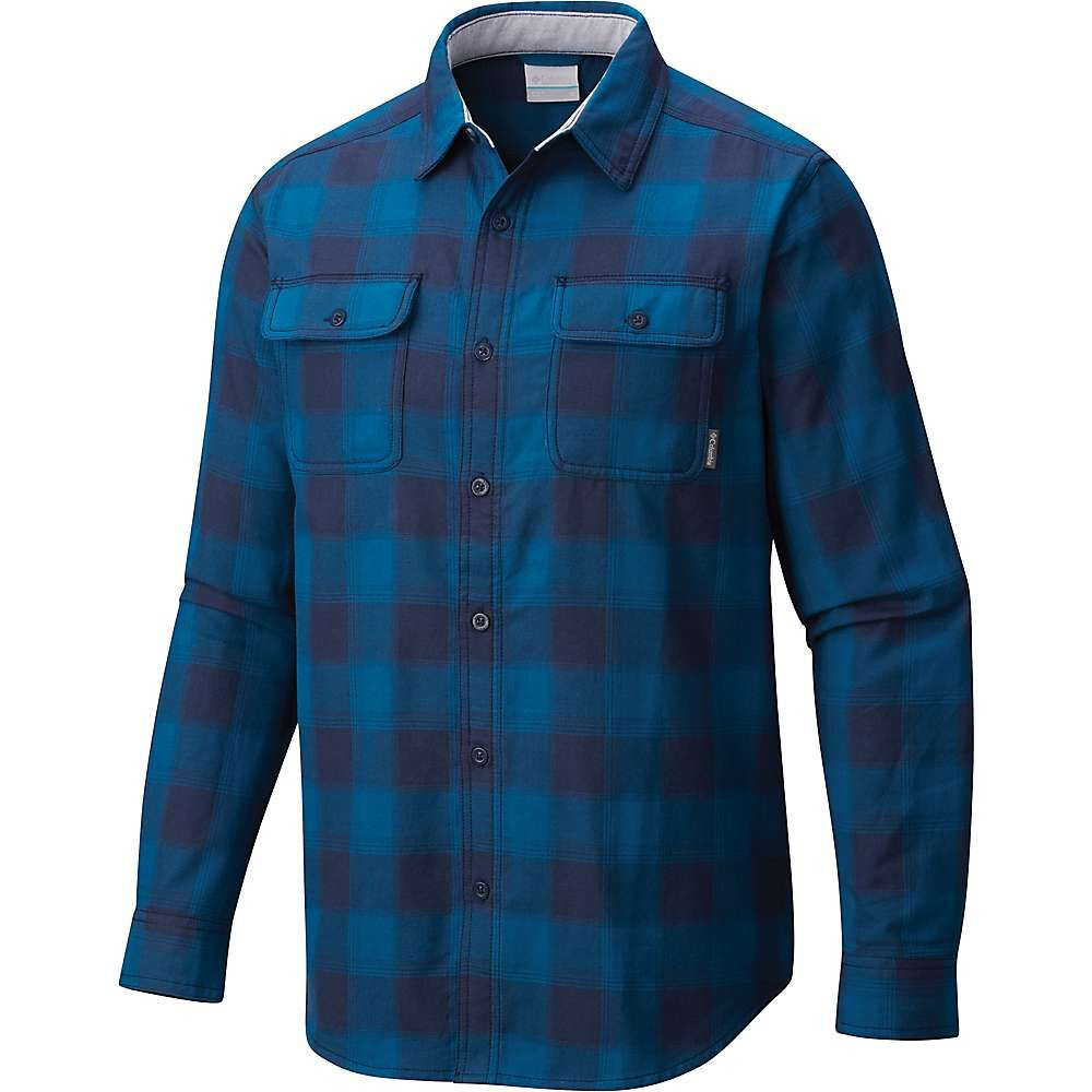 コロンビア メンズ トップス シャツ【Columbia Hoyt Peak Long Sleeve Shirt】Phoenix Blue Plaid