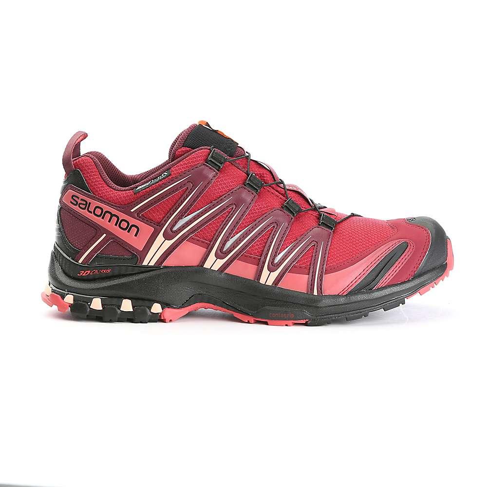サロモン レディース ランニング・ウォーキング シューズ・靴【Salomon XA Pro 3D CS WP Shoe】Tibetan Red / Black / Mineral Red