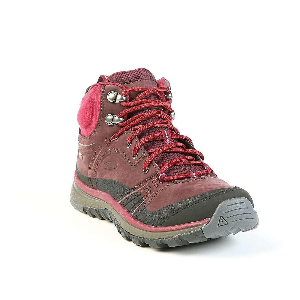 キーン レディース ランニング・ウォーキング シューズ・靴【Keen Terradora Leather Mid Waterproof Shoe】Wine / Rododendron