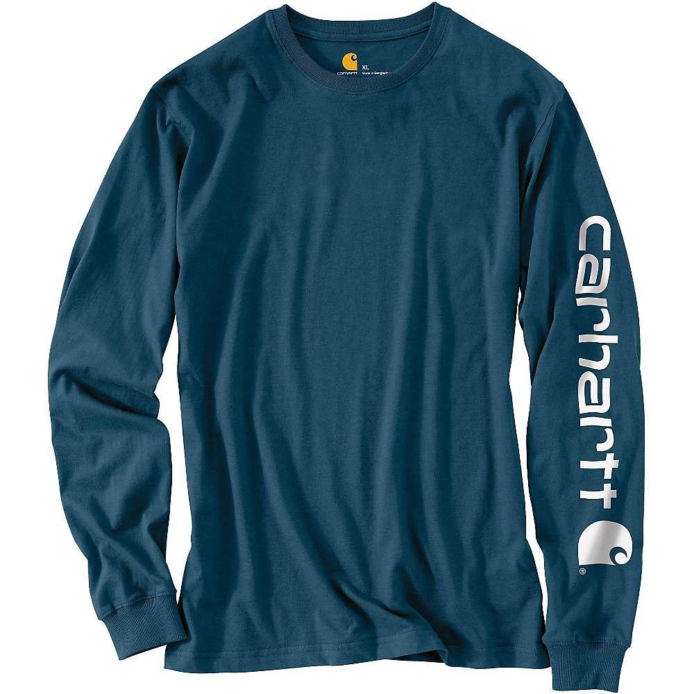 カーハート メンズ トップス 長袖Tシャツ【Signature Sleeve Long Sleeve T-Shirt】Stream Blue