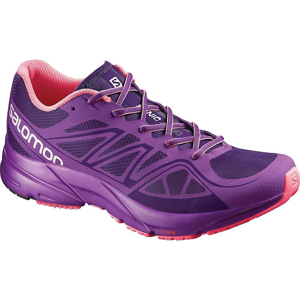 サロモン レディース ランニング・ウォーキング シューズ・靴【Sonic Aero Shoe】Cosmic Purple / Azalee Pink / Madder Pink