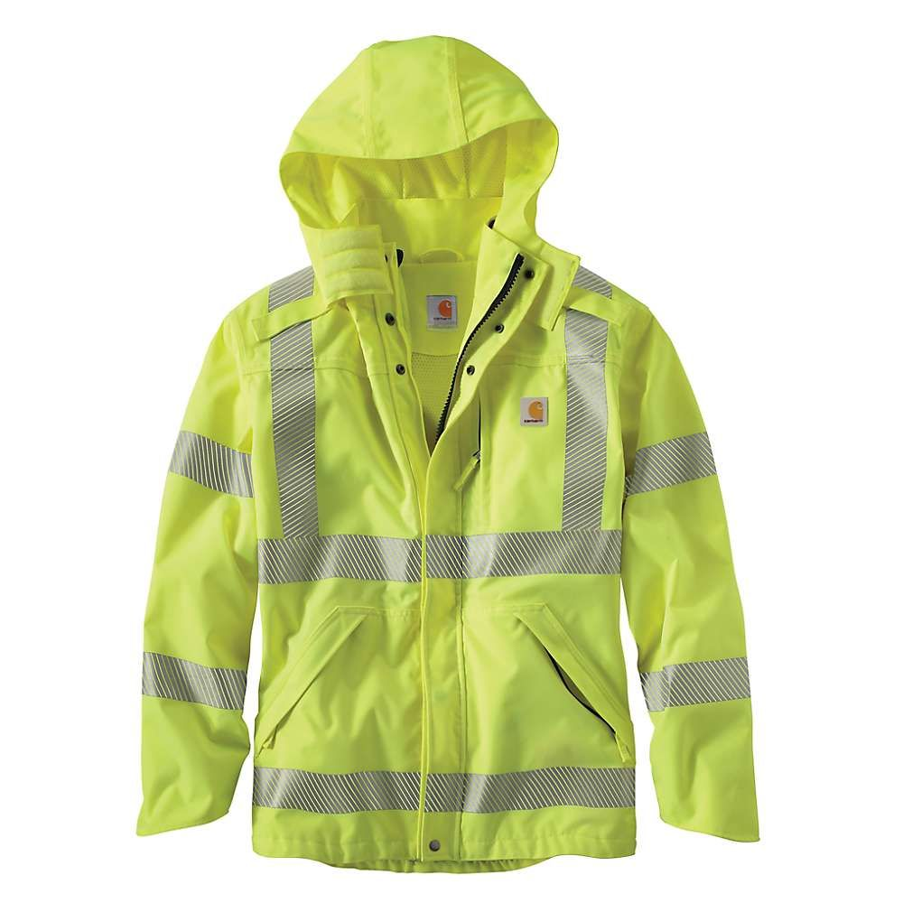 カーハート メンズ アウター レインコート【High-Visibility Class 3 Waterproof Jacket】Brite Lime
