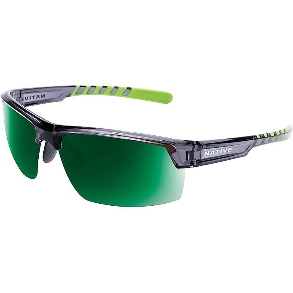 ネイティブ メンズ メガネ・サングラス【Catamount Polarized Sunglasses】Dark Crystal Grey / Green Reflex Polarized