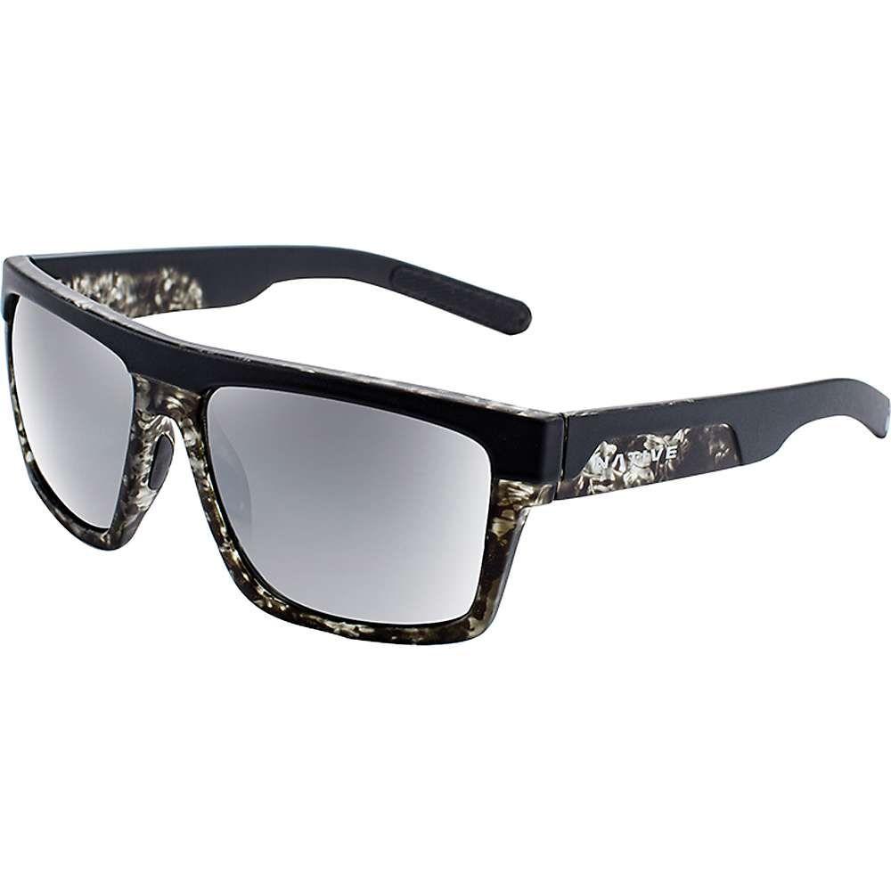 ネイティブ メンズ メガネ・サングラス【El Jefe Polarized Sunglasses】Matte Black / Black Tort / Silver Reflex