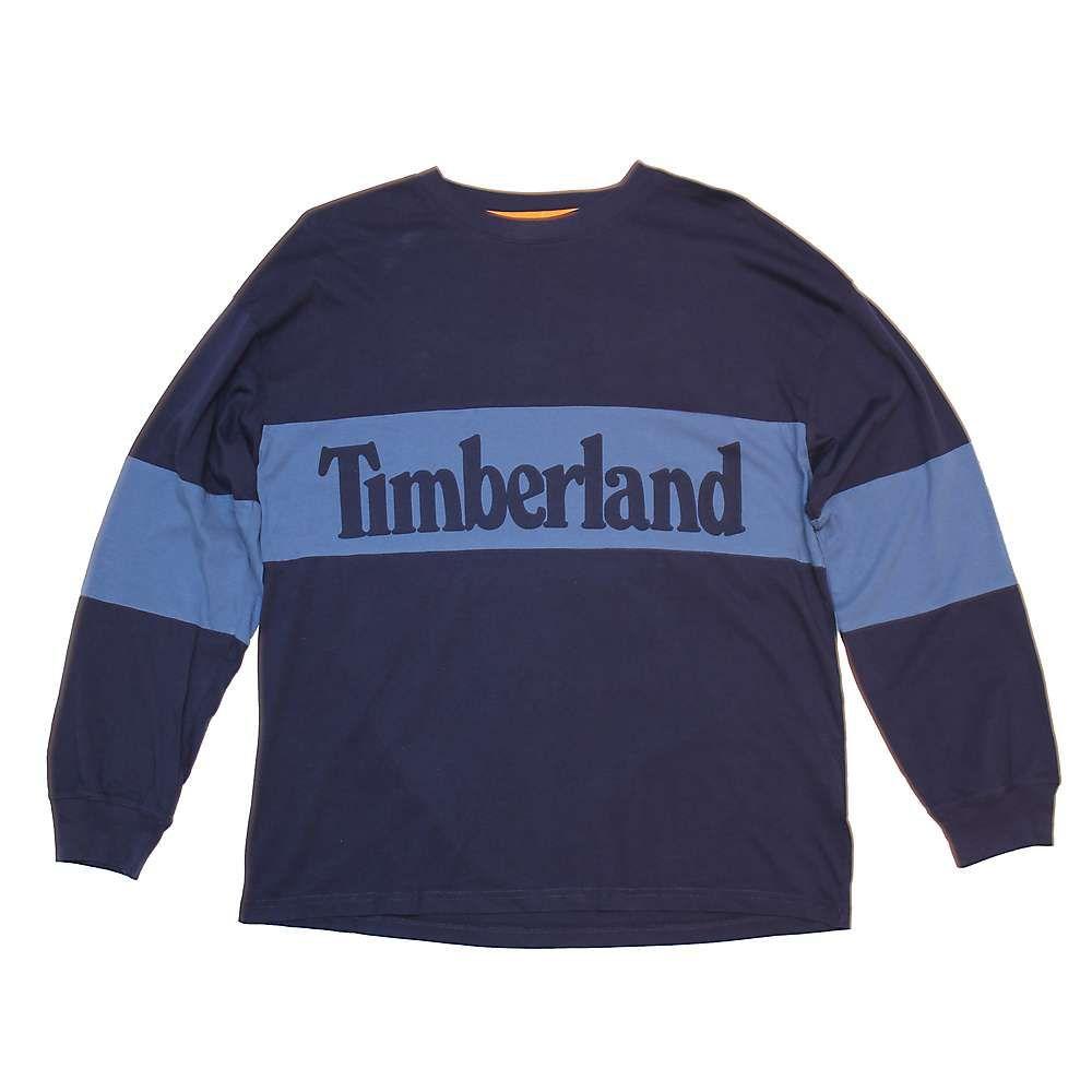 ティンバーランド メンズ トップス 長袖Tシャツ【Timberland Warner River LS Tee】Maritime Blue