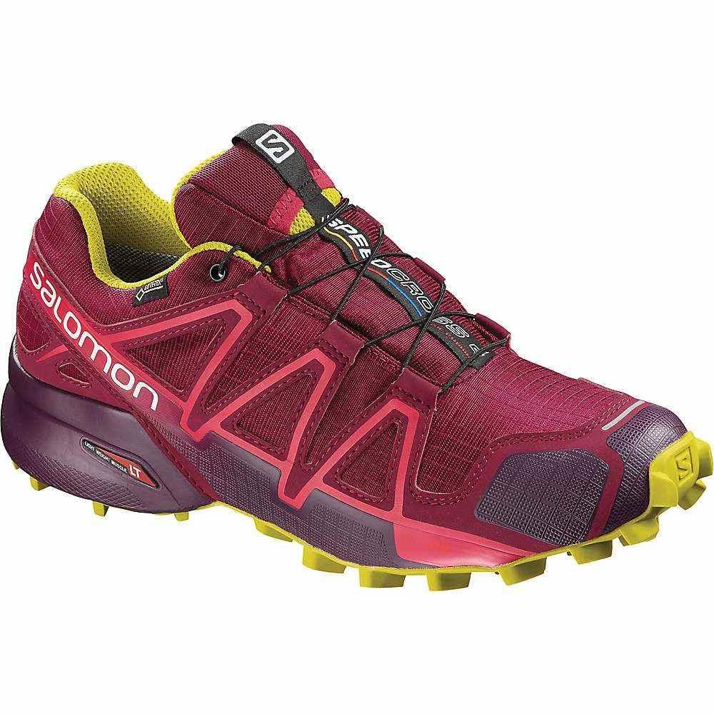 サロモン Salomon レディース ランニング・ウォーキング シューズ・靴【Speedcross 4 GTX Shoe】Beet Red / Potent Purple / Citronelle