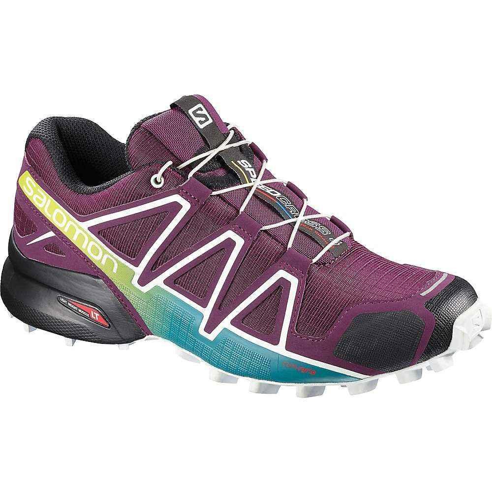 サロモン Salomon レディース ランニング・ウォーキング シューズ・靴【Speedcross 4 Shoe】Dark Purple / White / Deep Lake