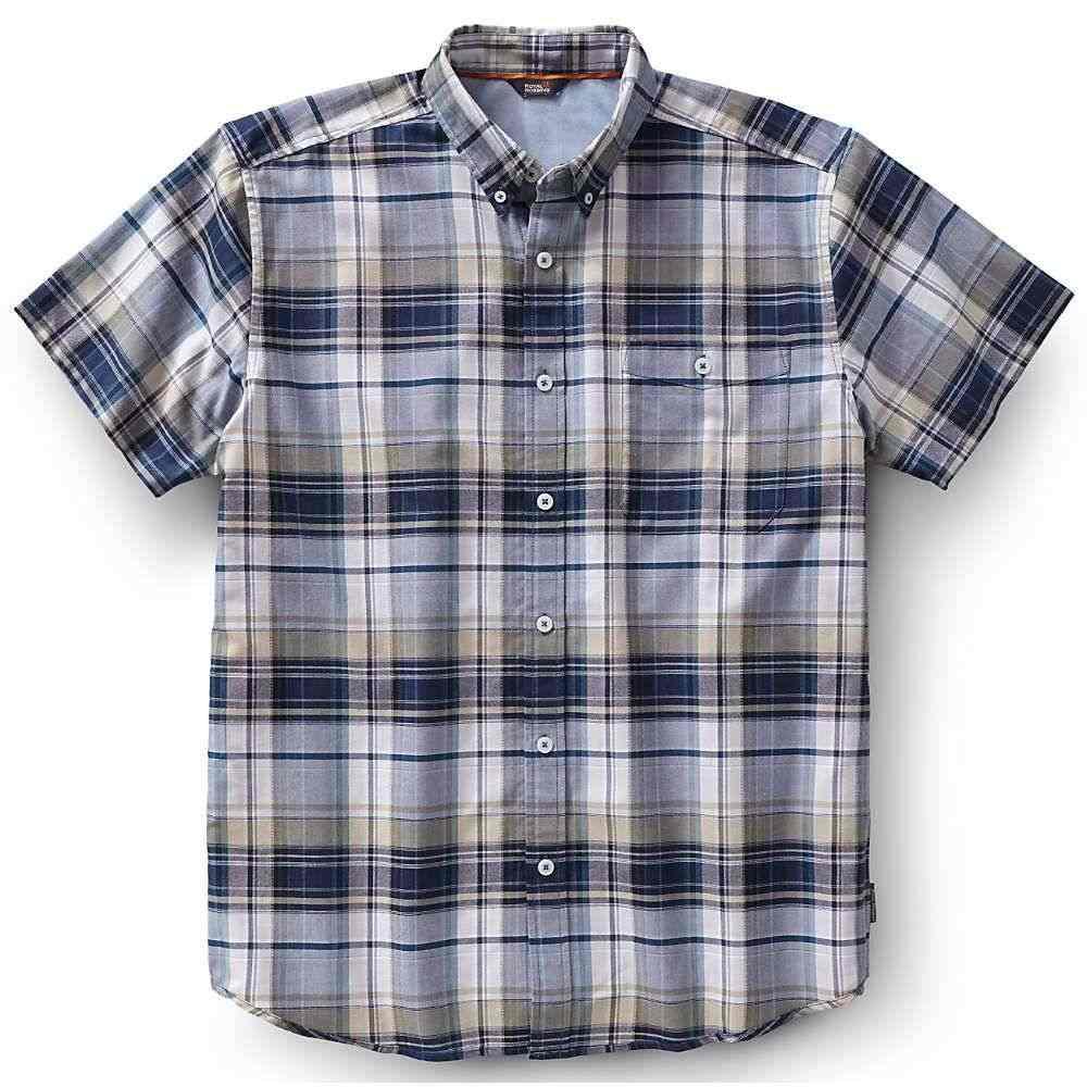 ロイヤルロビンズ Royal Robbins メンズ トップス 半袖シャツ【Go Everywhere Oxford Plaid SS Shirt】Phoenix Blue