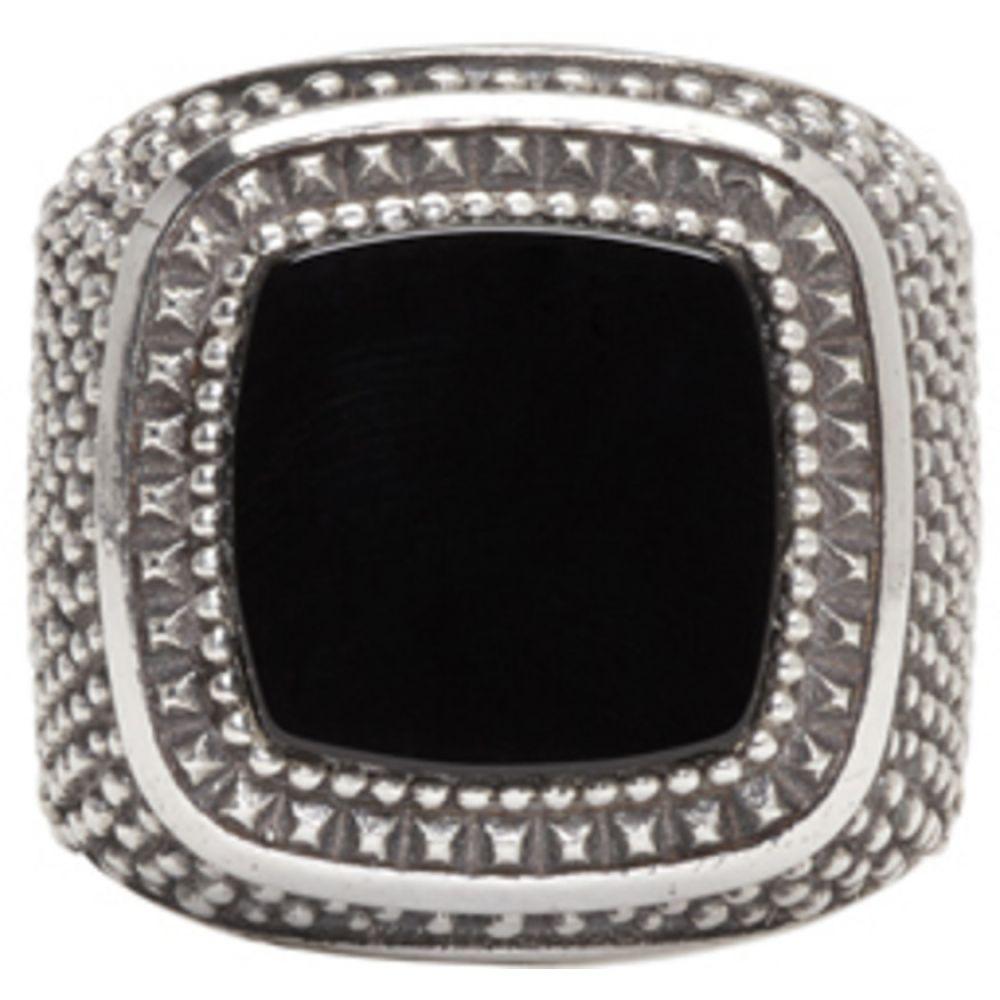 エマニュエレ ビコッキ メンズ ジュエリー・アクセサリー 指輪・リング【Silver Square Stone Ring】