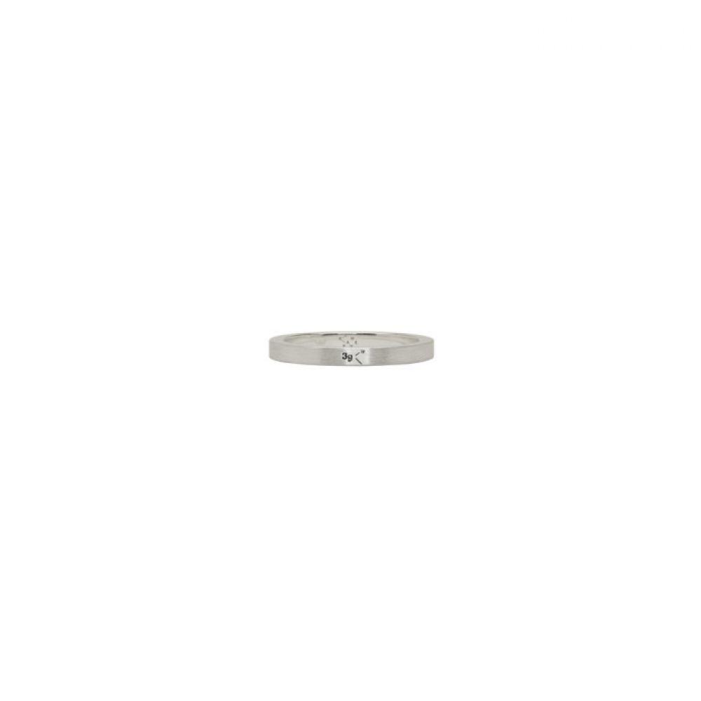 ルグラム メンズ ジュエリー・アクセサリー 指輪・リング【Silver Brushed 'Le 3 Grammes' Ring】