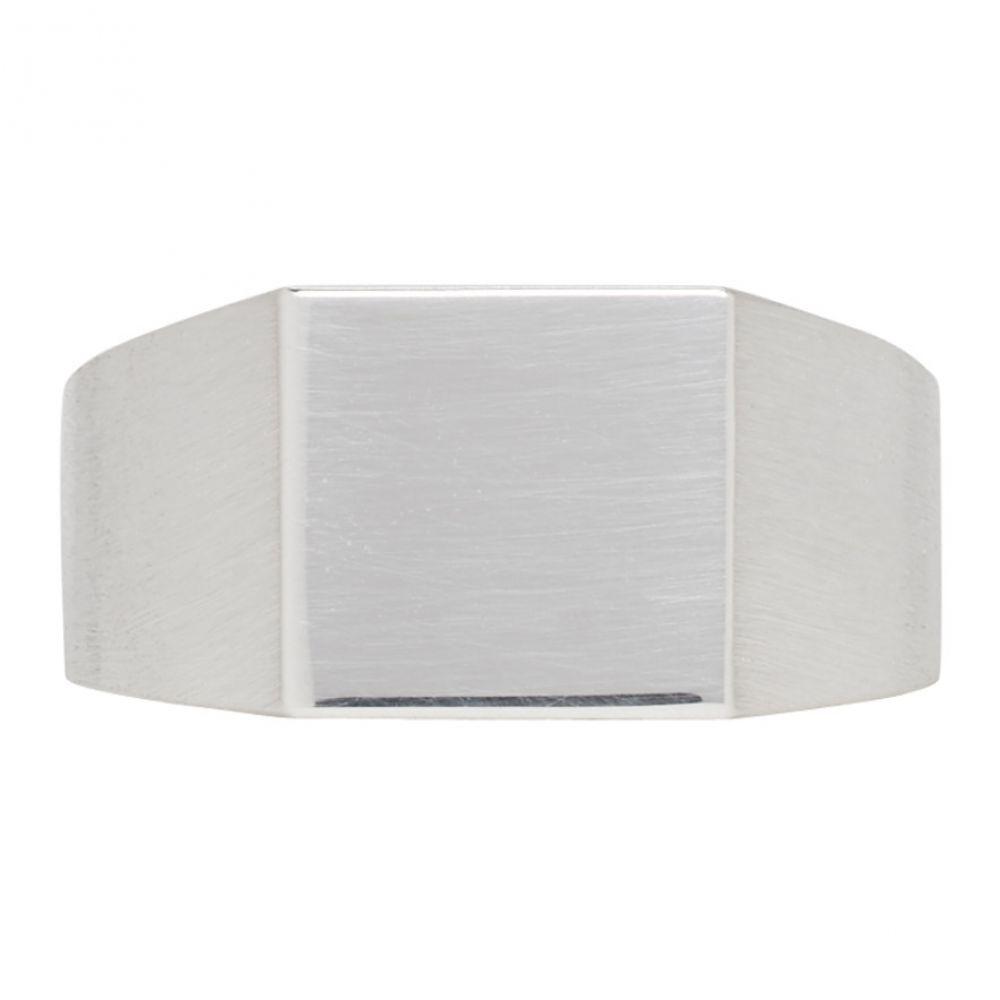 オールブルース メンズ ジュエリー・アクセサリー 指輪・リング【Silver Brushed & Polished Platform Ring】
