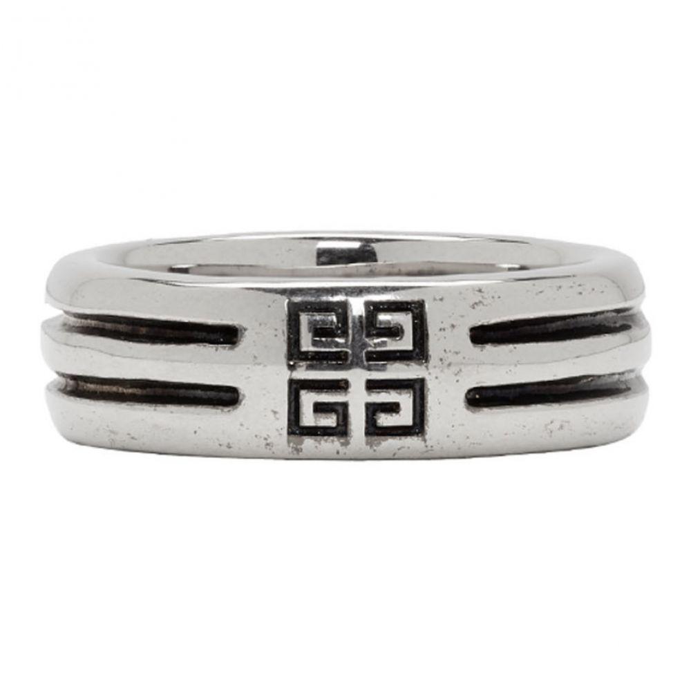 ジバンシー メンズ ジュエリー・アクセサリー 指輪・リング【Silver Double Row Band Ring】