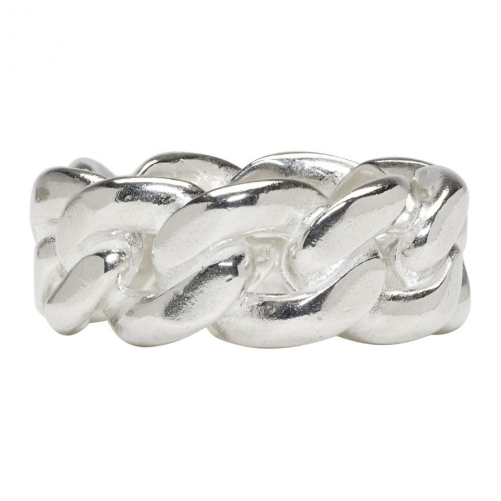 メゾン マルジェラ メンズ ジュエリー・アクセサリー 指輪・リング【Silver Curb Chain Ring】