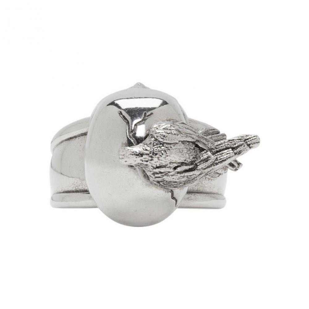 アレキサンダー マックイーン メンズ ジュエリー・アクセサリー 指輪・リング【Silver Raven & Skull Ring】