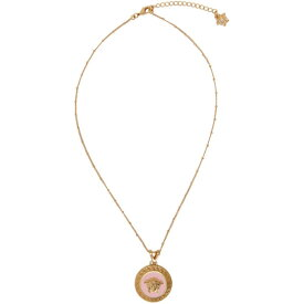 gold pink medusa pendant necklace mozeypictures Gallery