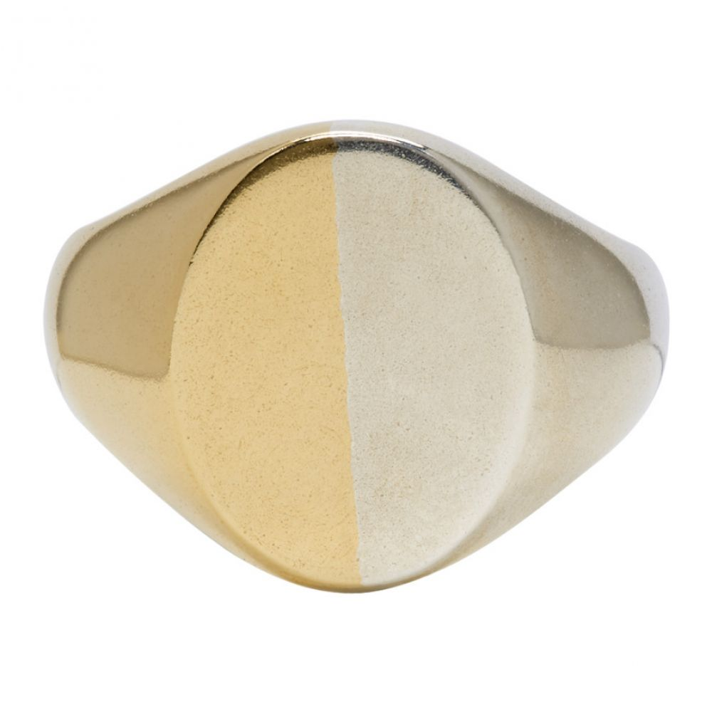メゾン マルジェラ メンズ ジュエリー・アクセサリー 指輪・リング【Silver & Gold Chevalier Ring】