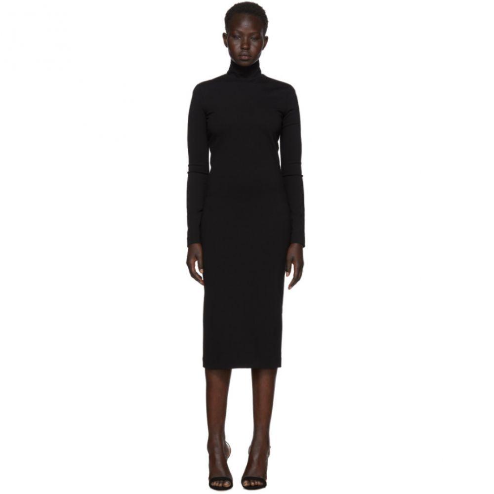 ディースクエアード レディース ワンピース・ドレス ワンピース【Black Compact Jersey Turtleneck Dress】