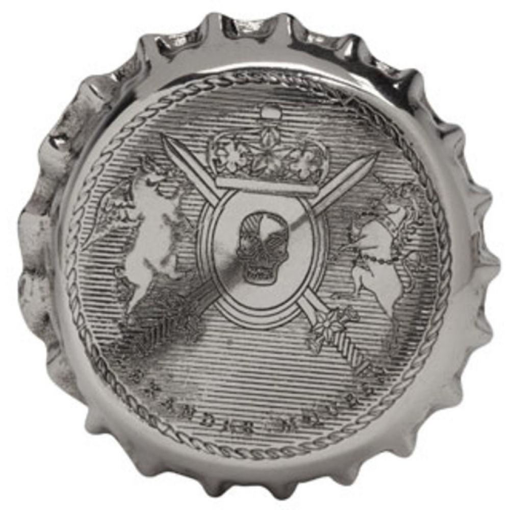 アレキサンダー マックイーン メンズ ジュエリー・アクセサリー 指輪・リング【Silver Cap Ring】