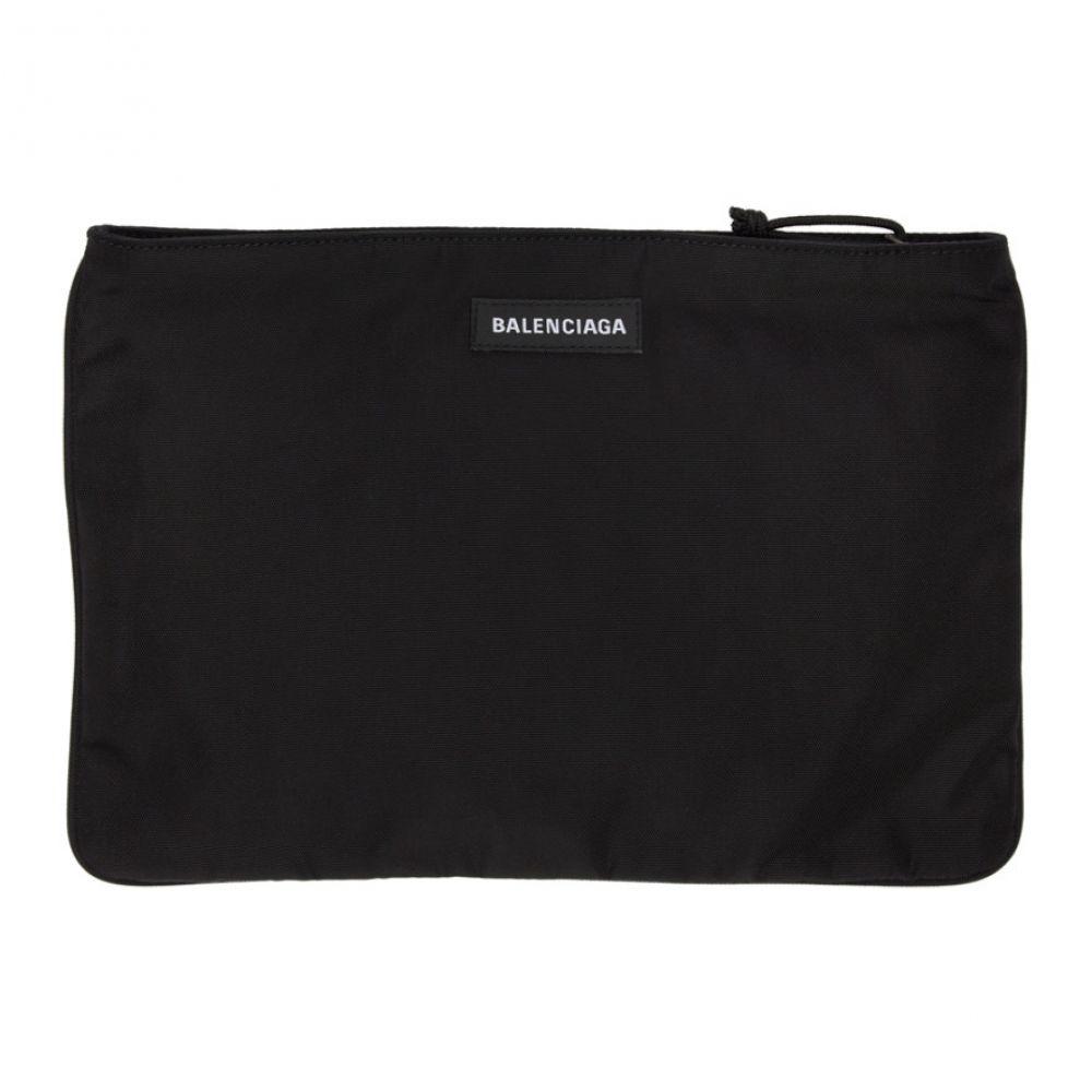バレンシアガ Balenciaga メンズ ポーチ【Black Explorer Zip Pouch】