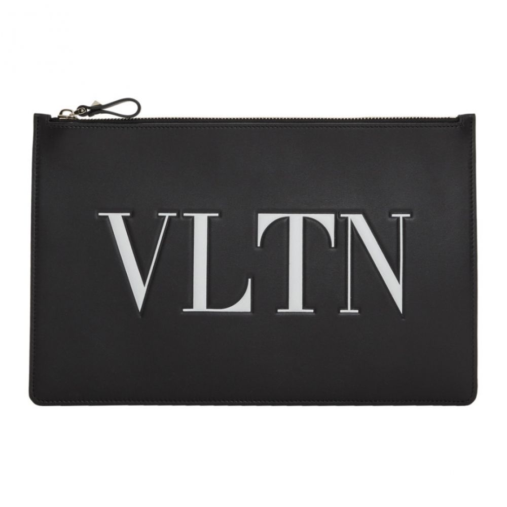 ヴァレンティノ Valentino レディース ポーチ【Black Garavani 'VLTN' Zip Pouch】