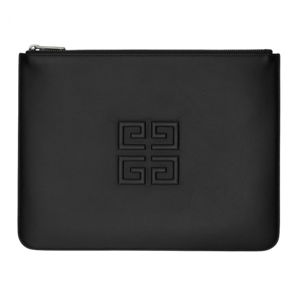 ジバンシー Givenchy メンズ ポーチ【Black Debossed 4G Zip Pouch】