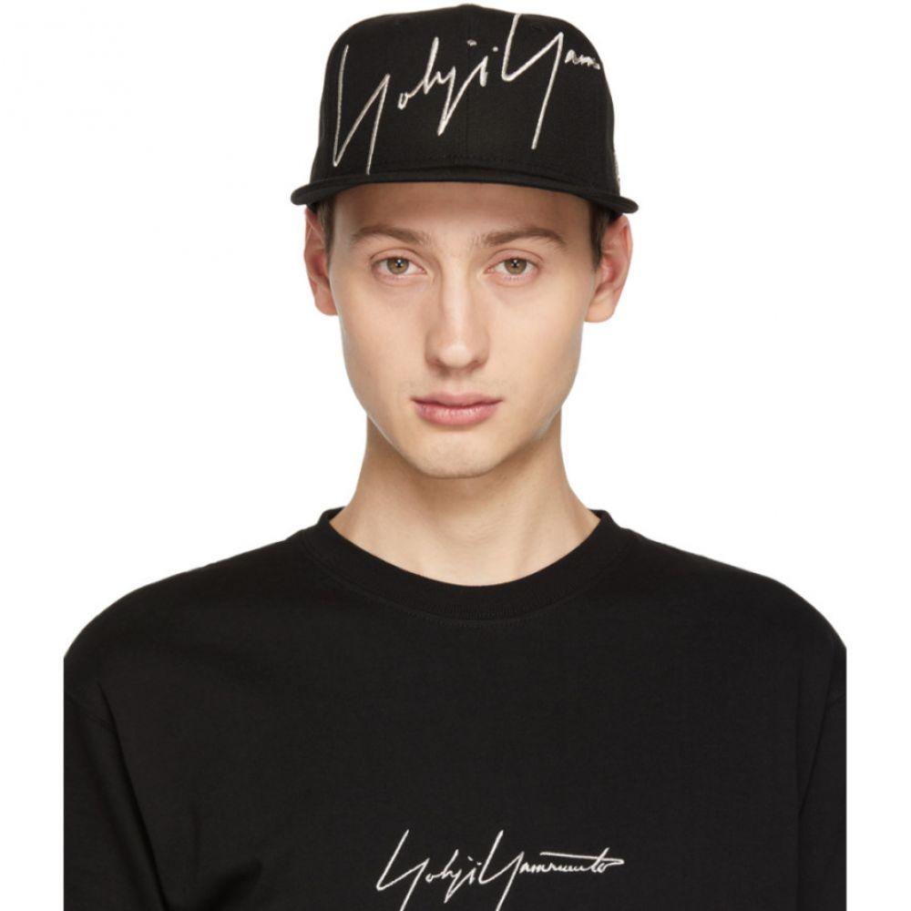 ヨウジヤマモト Yohji Yamamoto メンズ 帽子 キャップ【Black New Era Edition Serge Logo Cap】