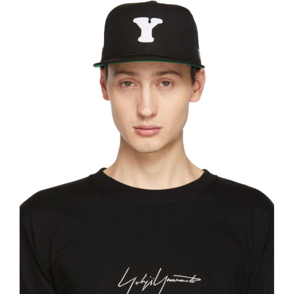 ヨウジヤマモト Yohji Yamamoto メンズ 帽子 キャップ【Black New Era Edition 59Fifty Logo Cap】